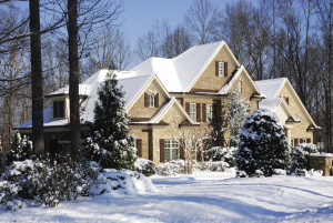 beautiful snowy plymouth home