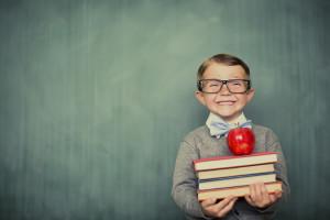 happy kid in a good school