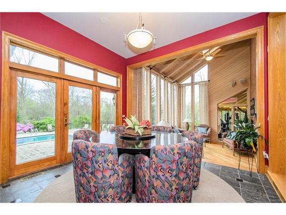 indoor-outdoor dining room