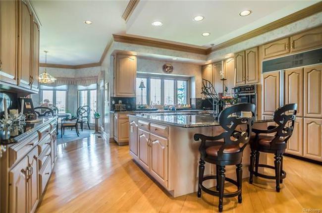 gourmet kitchen in plymouth mi luxury home