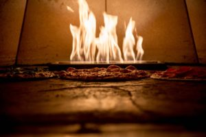 Wood fired, brick oven pizza.