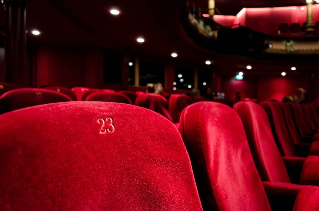Seats in a theatre.